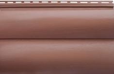 Акриловый сайдинг «Блок-хаус» Красно-коричневый BH-02 - 3,10м
